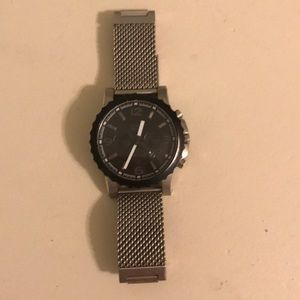 EUC Men's Fossil Watch with mesh metal band